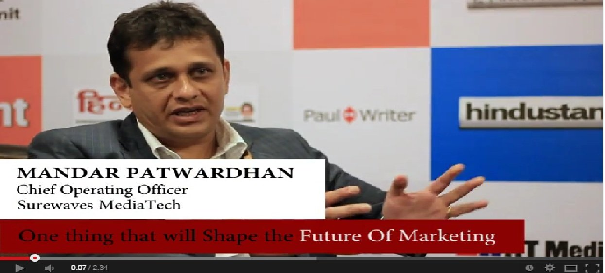In Conversation with Mandar Patwardhan, Chief Operating Officer, Surewaves MediaTech