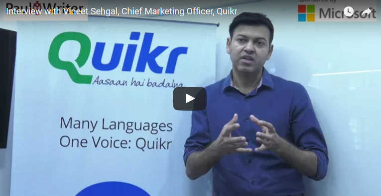 The Rise Of The Modern Marketer – Interview with Vineet Sehgal, Chief Marketing Officer, Quikr
