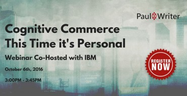 Webinar Resources | Cognitive Commerce – This Time it's Personal | 6 Oct