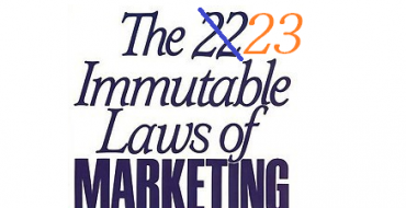 The 23rd Immutable Law Of Marketing Is Here!
