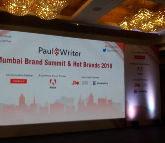 Paul Writer Recognizes the Brands at the Mumbai Brand Summit & Hot Brands 2018
