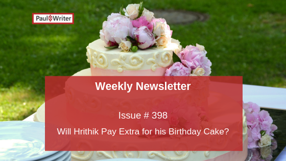 Will Hrithik Pay Extra for his Birthday Cake?