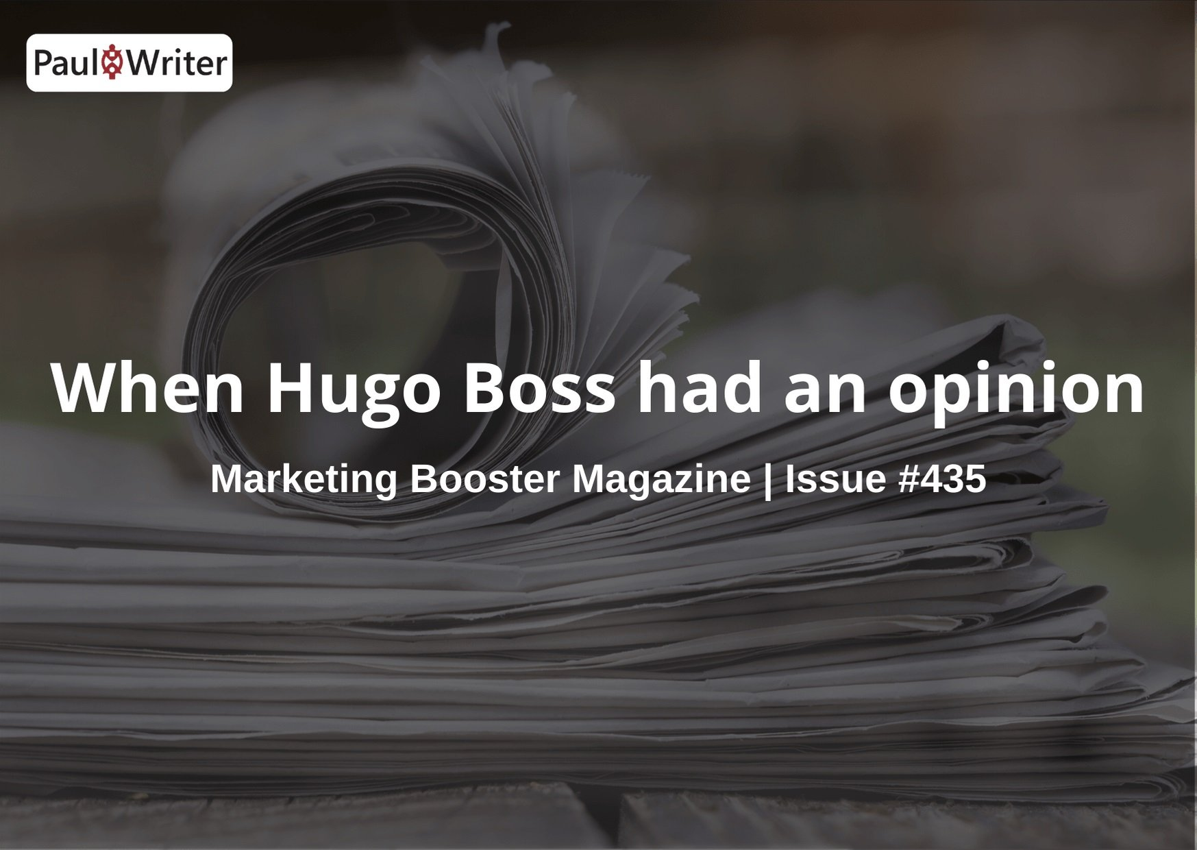 When Hugo Boss had an opinion