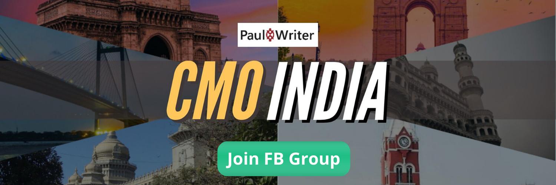 CMO India Paul Writer