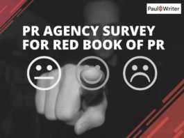 PR Agency Survey for Red Book of PR