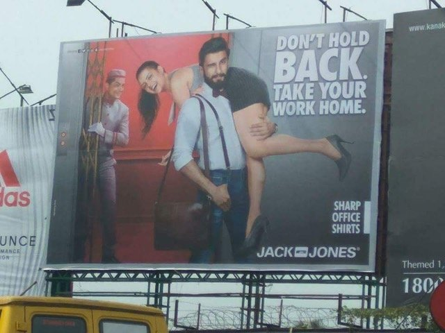 Jack & Jones Sexist Ad with Ranveer