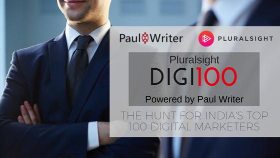 Pluralsight and Paul Writer announce Digi100, the hunt for India's top 100 Digital Marketers