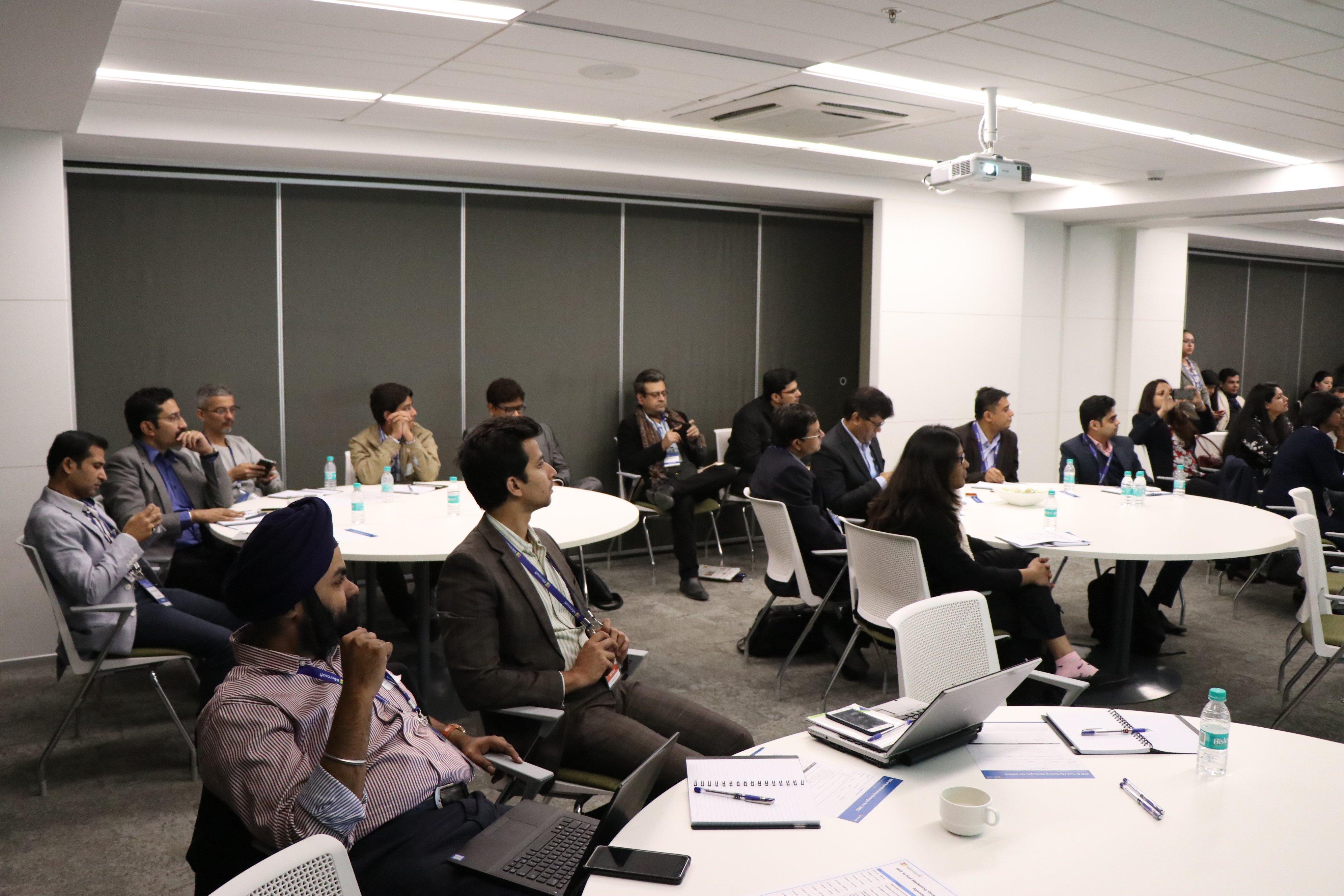 Microsoft Workshop: Participants at the workshop