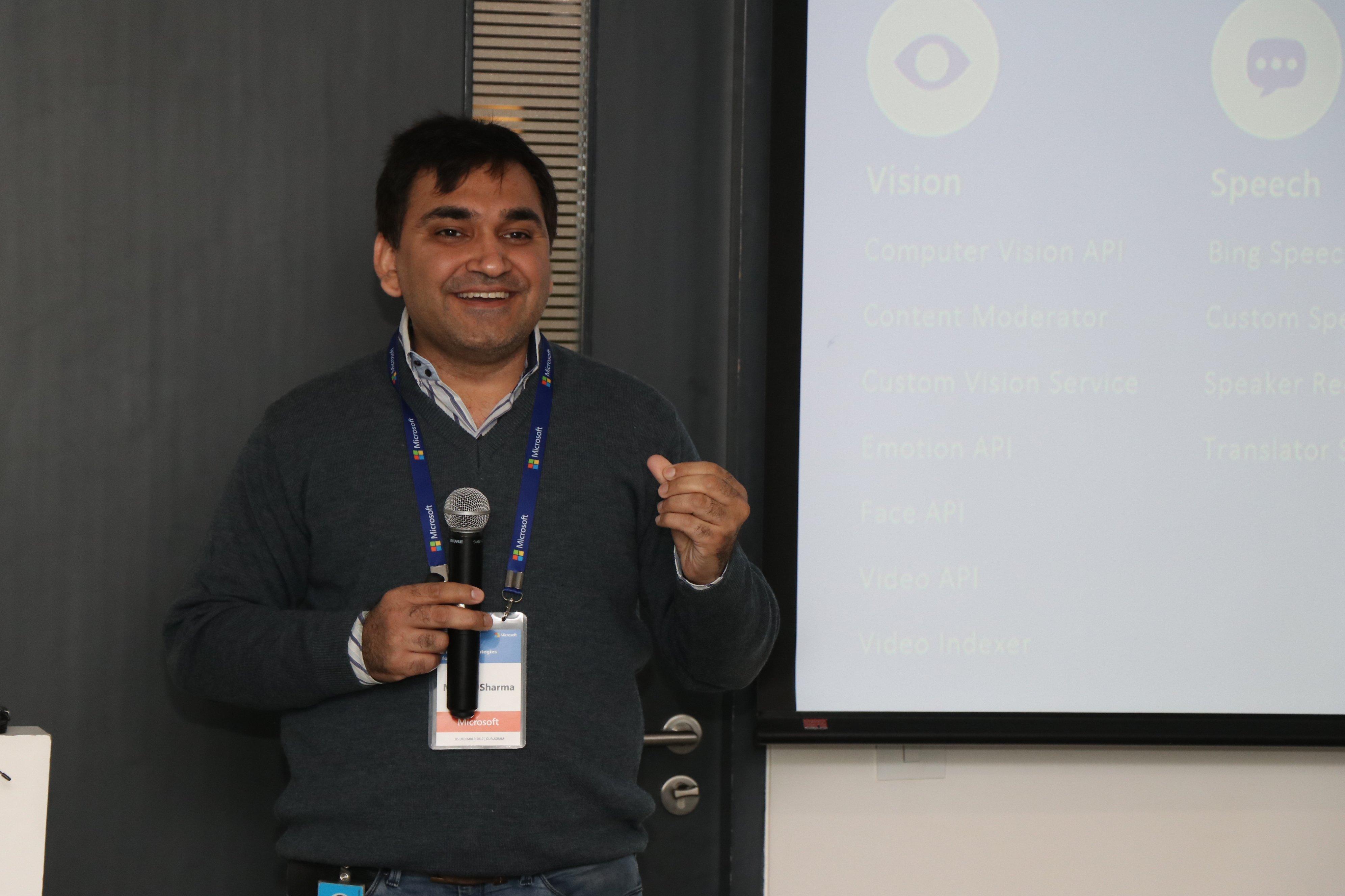 Microsoft Workshop: Manish Sharma, Technical Evangelist- Enterprise ISV, Microsoft India