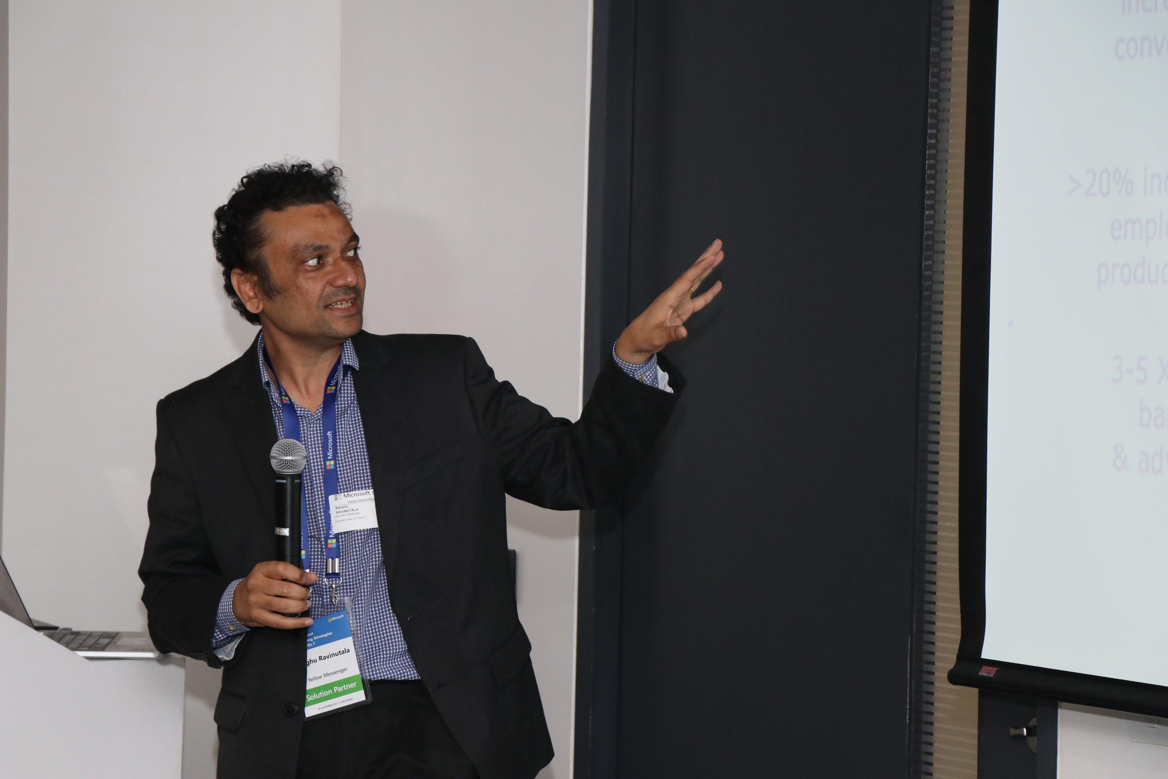 Microsoft Workshop: Raghu Ravinutala, Founder & CEO, Yellow Messenger