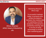 Dhruv Shanker, APAC Head of Marketing, ofo