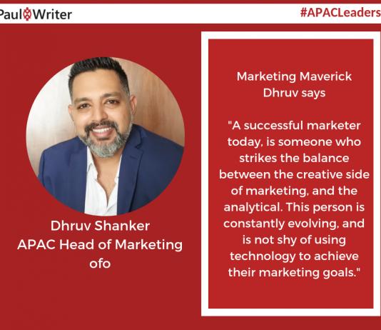 Dhruv Shanker, APAC Head of Marketing, ofo