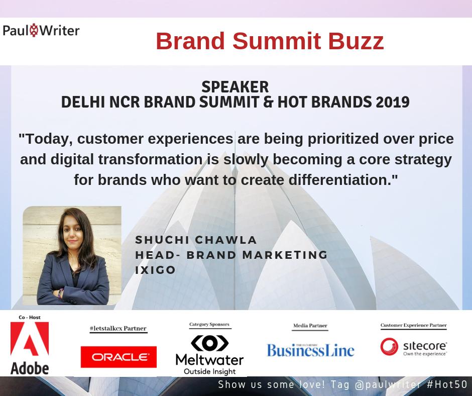 Brand Summit Buzz- Interview with Shuchi Chawla, ixigo