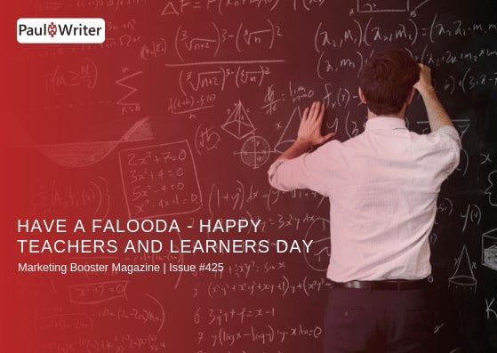 Have a falooda - Happy Teachers and Learners Day