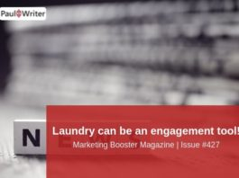 Laundry can be an engagement tool