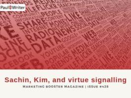 Sachin, Kim, and virtue signalling