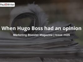 When Hugo Boss had an opinion