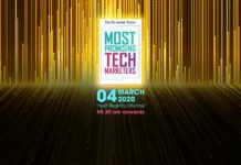 Tech Marketers Summit & Awards on 4 th March 2020 in Mumbai.