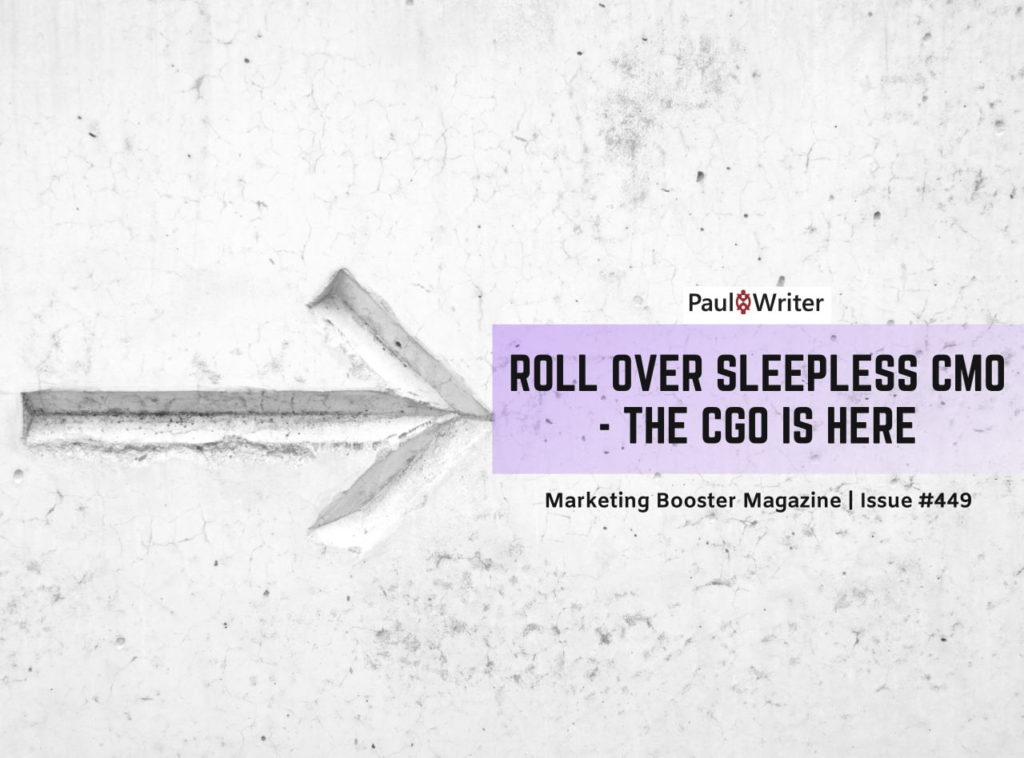 Roll over sleepless CMO - the CGO is here