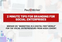 2 minute tips for branding for social enterprises