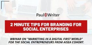 2 minute tips for branding for social enterprises