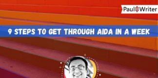 9 Steps to get through AIDA in a week