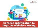 Content optimization to improve website ranking