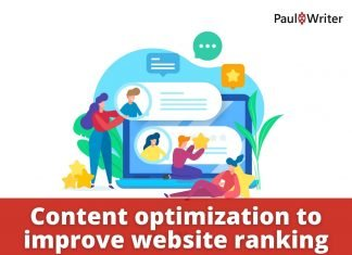 Content optimization to improve website ranking