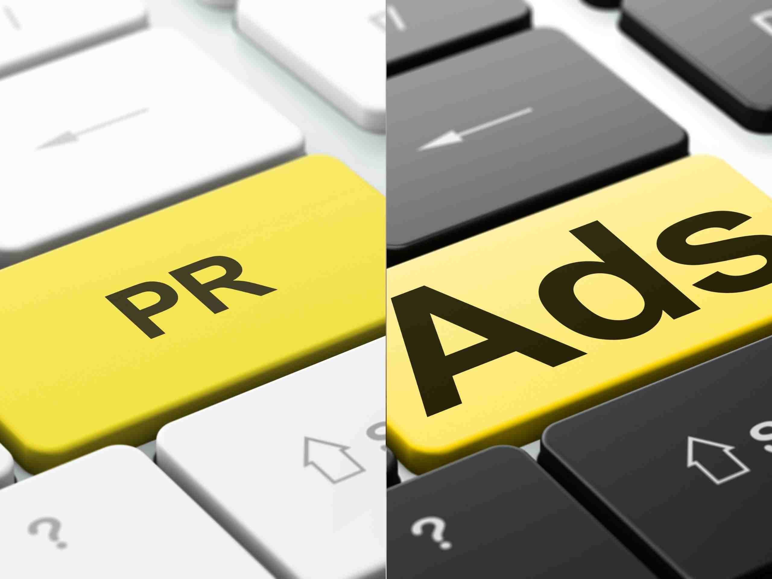 Differences between Public Relations and Ads