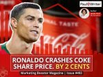 Ronaldo crashes Coke share price. By 2 cents
