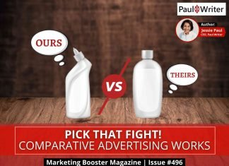 Pick that fight! Comparative advertising works.